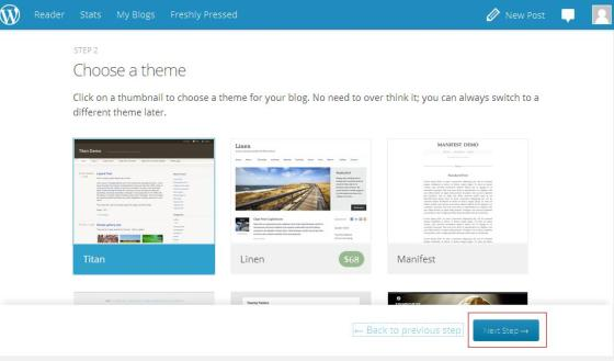 choose a theme - wordpress